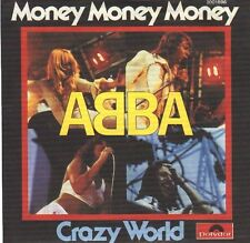 "ABBA Money, Money, Money & Crazy World  PICT SLEEVE 7"" 45 BRAND NEW + juke strip"