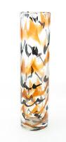 Mid Century Glas Zylinder Vase wohl WMF mit Luftblasen und Farbeinschmelzungen