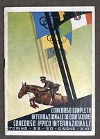 Programma Concorso Completo Internazionale di Equitazione ed Ippico Torino 1939
