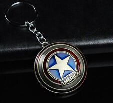 1pcs Bronze The Avengers Captain America Shield Metal Keyring Keychain