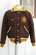 Mens Marching Band Color Guard TITUSVILLE 76 Letterman Varsity Jacket Sz SM