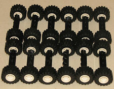 ☀️NEW LEGO LOT OF 12 WHEEL ASSEMBLIES WIDE BLACK TRUCK AXLES & MEDIUM TREAD CAR