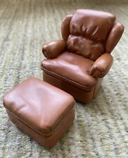 Take A Seat by Raine -Leather Chair w Ottoman Willitts Dollhouse Furniture 24002