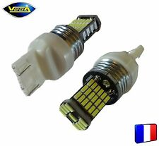 2 ampoules 45 leds 4014 SMD W21/5W blanche 1000 lumens 12V