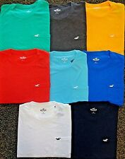 NEW HOLLISTER S/S SOLID POCKET T-SHIRT, PICK COLOR & SIZE, ABERCROMBIE & FITCH