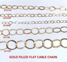 Gold Filled Chain Cable chain - Flat Wire