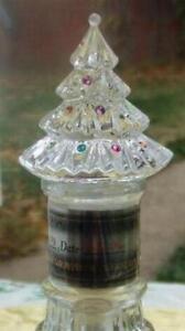 LENOX FULL LEAD CRYSTAL GEM CHRISTMAS TREE WINE BOTTLE STOPPER NEW BEAUTIFUL