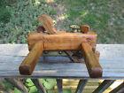 Antique brass & steel wood slide arm plow plane carpentry tool N.S.G.