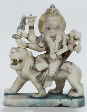 Antique marble Durga  S-532  11 inches high