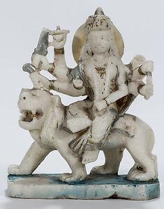 Antique marble Durga  S-532  11 inches high