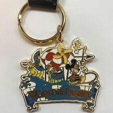 WDW World of Disney Store Mickey Pluto Metal Keychain Fob Purse Charm