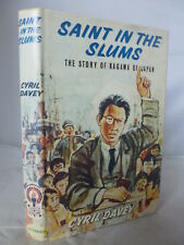 Saint in the Slums - Story of Kagawa of Japan by Cyril Davey HB DJ 1968