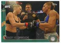 2015 Topps UFC Chronicles Green Parallel /288 #182 Rousey vs Carmouche