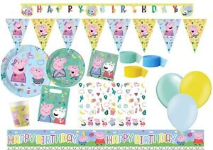 NEW Peppa Pig Messy Play Birthday Party Tableware Supplies Decoration