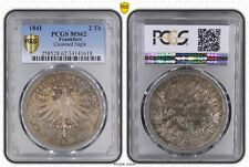 1841 Frankfurt 2 Taler PCGS MS62 Crowned Eagle