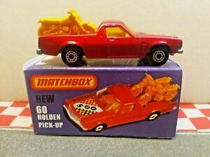 Matchbox Superfast Holden 60 Ute Pick-up Car ORIGINAL in repro box