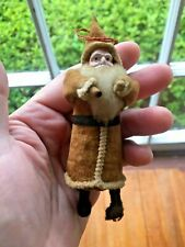 Early 1900s Papier Mache Face German Santa Claus Tree Ornament St. Nickolaus