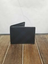 Authentic Burberry Men's Bifold Wallet Blue/Black