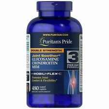 Puritan's Double Strength Glucosamine Chondroitin & MSM Joint Soother 480 Caps