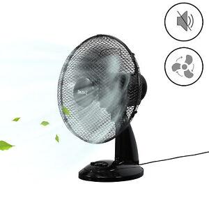 Tischventilator Ventilator Ø31cm Oszillierend Luftkühler Windmaschine schwarz