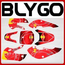 RED Decals Graphic Stickers Kit KLX 110 Style Fairing Bigfoot PIT PRO Dirt Bike