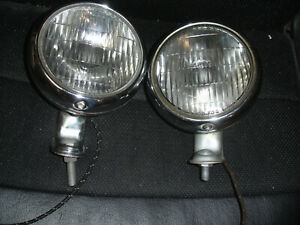 """1950-1952 Chevrolet pass. and 1953-1954 pickup truck clear fog lights. """"TESTED"""""""