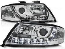 LED HEADLIGHTS LPAU45 AUDI A6 SALOON ESTATE 2001 2002 2003 2004 CHROME