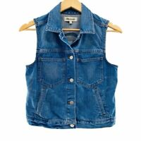 Madewell 'The Jean Vest' Women's Button Up Blue Denim Vest, Size Small