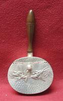 Vintage mid century Hand Hammered Aluminum handled Ashtray with Birds
