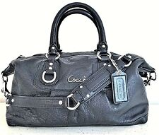 Coach Ashley Black Leather Satchel Women's Authentic Purse, Shoulder Bag $358