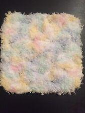 4.5 Inch Crochet Granny Square Dollhouse Baby Blanket fuzzy Pastels