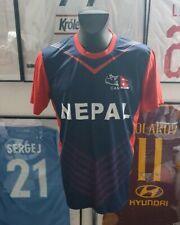 Jersey T-Shirt Maglia Camiseta Trikot Shirt Icc Can Cricket Nepal Vintage Rhino