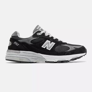 New Balance Mens Made in US 993 Black with grey Standard D Free Shipping