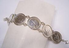 Bracciale in Argento 925 con monete da 500 lire in Argento - Quadriga