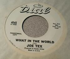 Joe Tex  I've Got To Do A Little Bit Better / What In The World ~ Promo ~ (M-)