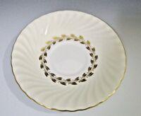 Minton Gold Cheviot Bone China Small Plate / Saucer White/Cream/Gold