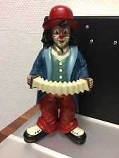 "Gilde Clown "" mit Ziehharmonika "" 26,5 cm. Top Zustand !!"