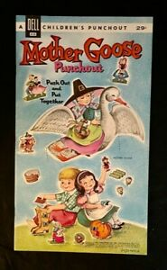 1962 DELL PUNCHOUT BOOK MOTHER GOOSE ORIGINAL UNPUNCHED