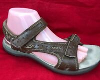 EARTH SPIRIT LEATHER COMFORT SANDALS BROWN WOMENS SHOES 40.5 / 8.5