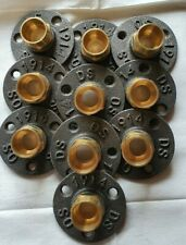 Malleable Iron Flange With 22 mm Brass Fittings X 10