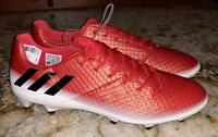 ADIDAS Messi 16.1 FG Soccer Cleats Metallic Red Black White NEW Mens Sz 8 8.5