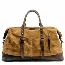 Men Hand Luggage Travel Bag Canvas Leather Large Capacity Duffel Shoulder Bags