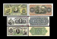 Brésil -  2x 1,2,200 Mil Reis Edition - 1868-1889 Dom Pedro II - Reproduction 44