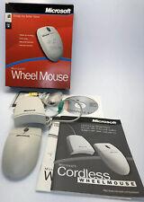 Vintage Retro PS/2 Serial Microsoft Wheel Ball Mouse X05-16878