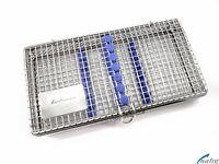 Sterilisation Cassette Rack Tray Surgical Dental 7 instruments NATRA Germany box