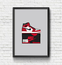 Air Jordan 1 Chicago / Trainer / Sneaker Wall Art Print / Poster  A3