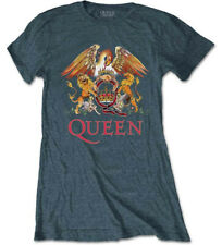 Queen 'Classic Crest' (Grey) Womens Fitted T-Shirt - NEW & OFFICIAL!