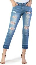 NEW GACE IN LA DISTRESSED FLORAL LACE JEANS Size 31