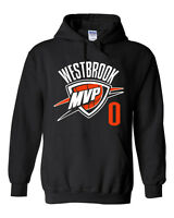"BLACK Russell Westbrook Oklahoma City ""MVP""  Hooded SWEATSHIRT HOODIE"