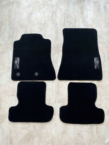 FLOOR MATS FOR FORD MUSTANG 2015-2020 WITH MUSTANG LOGO NON SLIP WITH CLIPS 4PCS